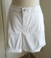 Lane Bryant White Shorts Lightweight Cotton Twill Stretch Cuffed Plus 26 4X NWT*