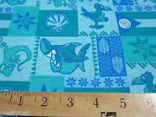 Shark and pelican print knit cotton tee shirt fabric for clothing and crafts
