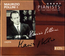 Maurizio POLLINI Signiert GREAT PIANISTS OF THE 20TH CENTURY 2CD Chopin Concerto