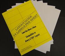 14000 White Address Labels 14 Per A4 Sheet Laser Inkjet