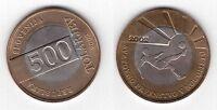 SLOVENIA - BIMETAL 500 TOLARJEV UNC COIN 2002 YEAR KM#45 FIFA FOOTBALL WORLD CUP