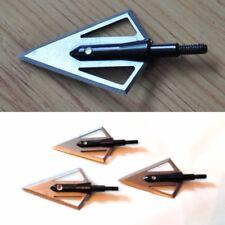 3 Acciaio Tradizionale 2 BLADE Broadheads per tiro con l'arco Frecce ARCO COMPOUND crossbow