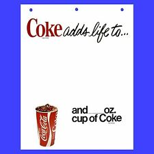 5 Coca Cola Specialty Paper Signs 1970s VG Coke Poster