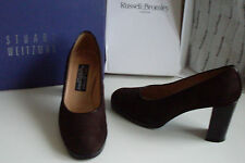 RUSSELL & BROMLEY Brown Suede Vintage Court Shoes Size UK 3  4 EU 36  37 US 5  6