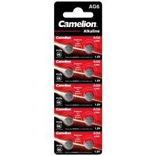 50x Knopfzelle AG6-LR69-LR920-371 Alkaline Uhrenbatterie von Camelion