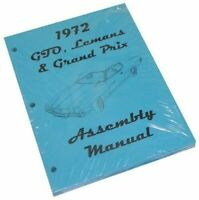 1972 GTO Lemans Tempest Factory Assembly Manual High QUALITY