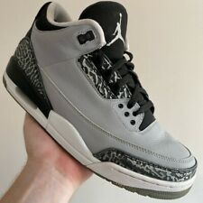 VTG 2014 NIKE AIR JORDAN 3 UK9 EU44 WOLF GREY BRED TOE OG RARE CLASSIC BALL 1 4