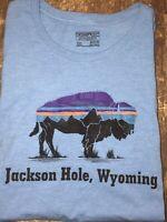 Super Rare XXL SLIM Patagonia Jackson Hole T-Shirt Buffalo Print