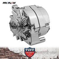 Ford Bronco V8 302 351 Proflow Chrome Alternator 140 Amp with Internal Regulator