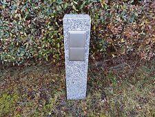 Gartensteckdose Granit Stele Außensteckdose für  Baumbeleuchtung Lichterkette