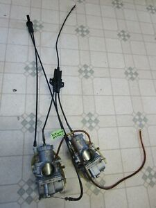 Vintage 80 Kawasaki Invader 440 L/C Snowmobile VM36 Mikuni Carburetors Carbs