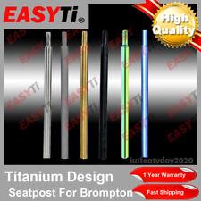 Easyti Titanium GR9 31.8x535/550/560/580/600MM Seatpost Seat Post For BROMPTON