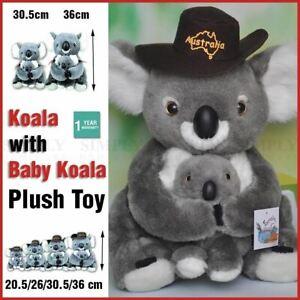 Koala With Baby Plush Stuffed Soft Toy Kids Gift Souvenir Australian Huggable AU