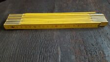 METRO DE CARPINTERO 200 cm siglo XX madera plegable numeros ambas caras completo