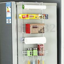 6 Tiers Wall Cabinet Refrigerator Organizer Hanging Spice Jar Shelf Rack 25''