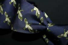 DUCK HUNT Hermes Paris Foulard Print Silk Flying Bird Animal Print 7280 MA Tie