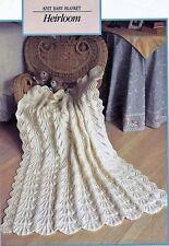 BABY knitting pattern vintage style  heirloom  blanket shawl dk 35 x 42 in