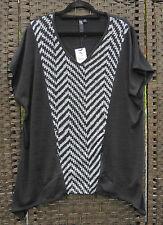 TS 14+ New Ager Black Print Tunic Top S BNWT RRP$109.95