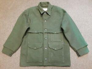 VTG FILSON Double Mackinaw Cruiser Wool Hunting Shooting Coat Jacket Green 42 ?