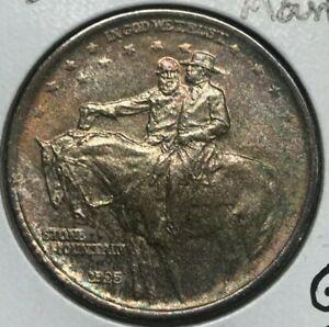 1925 Stone Mountain Commemorative Half Dollar - Gem Uncirculated - Toning
