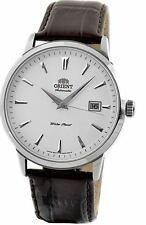 Orient Symphony FER27007W0 White Dial Brown Leather Band Men's Watch