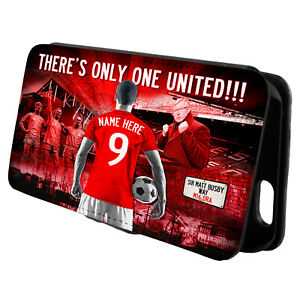 Personalised Manchester United iPhone Case Football Flip Phone Cover Mens AF83