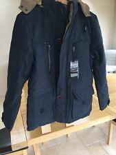 AFS zdjp Para Hombre De Invierno Abrigo estilo parka con capucha Tamaño XL