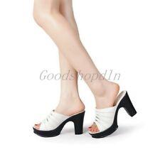 Fashion New Women's Open Toe Platform Slip-On Sandlas Casual Shoes H-888