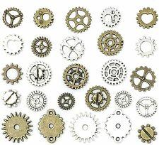 10 Clock Gears Cogs Parts Silver Bronze Metal Steampunk Supplies Assorted Lot