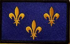 Île-de-France Flag Patch With VELCRO® Brand Fastener Morale BLACK Border