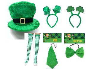 St. Patrick's Day Headband Hat Tie Bowtie Irish Festival Costume Accessories