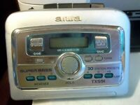 Used AIWA HS-TX591 Portable Stereo AM/FM Radio Cassette Super Bass