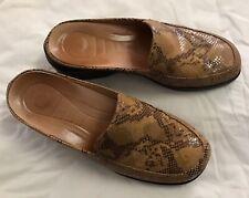 Women's Nurture SnakeSkin Leather Mules, Size 8.5M Brazil Gel Cushion, Euc Sale!