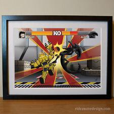 Aliens Art Print - Alien Street Fighter Movie Poster - Digital Illustration