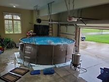 """New listing Summer Waves Elite 14'x42"""" Frame Pool with Filter Pump System and Ladder"""
