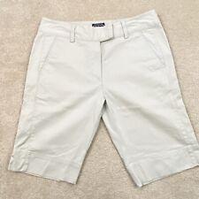New listing Adidas Stretch Khaki Light Tan Golf Capris Bermuda Shorts WOMENS Size 8