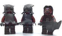 LEGO LOT OF 3 URUK-HAI LORD OF THE RINGS HOBBIT & LOTR MORDOR ORC MINIFIGS