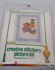 Sesame Street Ogart Crafts Bert Ernie 9506 creative stitchery picture kit 1979