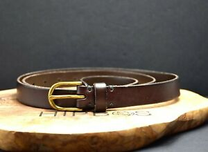 Volpi Concerie Skinny Womens Leather Belt Brown Size 32