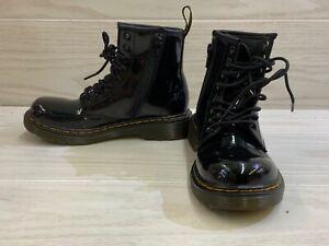 Dr. Martens 1460 J Combat Boots, Little Kid's Size 1M, Black NEW
