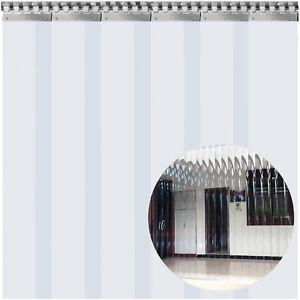 VEVOR 6 PCS Rideau à Lamelles en PVC Aspect Transparent Bandes de Rideau 1x2 m