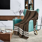Blanket+Throw+Chenille+Ultra+Soft+50%22+x+60%22+for+Sofa+Couch+Coffee