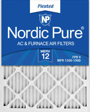 Box of 6 Nordic Pure 16x25x1 Merv 12 Pleated Ac Furnace Air Filters