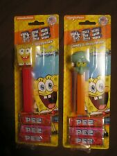 "Pez Spongebob And Squidward Candy And Dispenser ""From Pez Factory"" 2018"