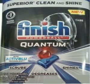 Open Box Finish Quantum 570 Tablets ACTIVBLU Automatic Dishwasher Degreases