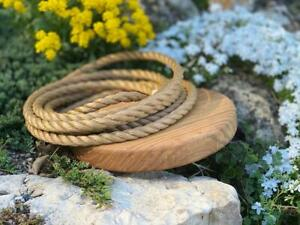 Natural Wooden Handmade Disc Swing Single Rope Disc Swing for Indoor and Outdoor