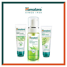 Himalaya Neem Face Wash Foam, Scrub & Mask - Natural Soap Free Acne Solution For