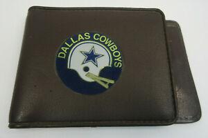 vintage Dallas Cowboys Official License NFL brown vinyl wallet retro Hong Kong