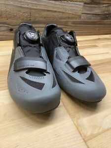 PEARL iZUMi Men's Elite BOA Road v5 Shoes Black/Gray Size EU 43, US 9