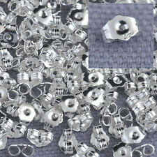 200PCS Silver Butterfly BACK STOPPERS Earrings Jewelry Findings For Stud Pins